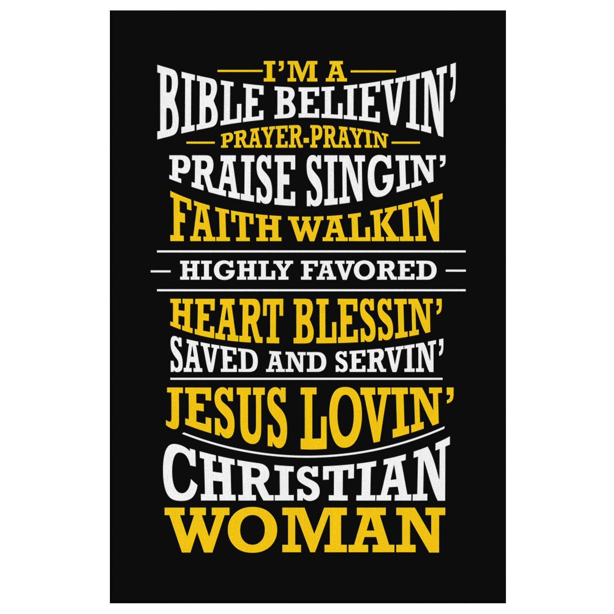 Im A Bible Believin Jesus Lovin Christian Woman Christian Canvas Wall Art Room-Canvas Wall Art 2-8 x 12-JoyHip.Com