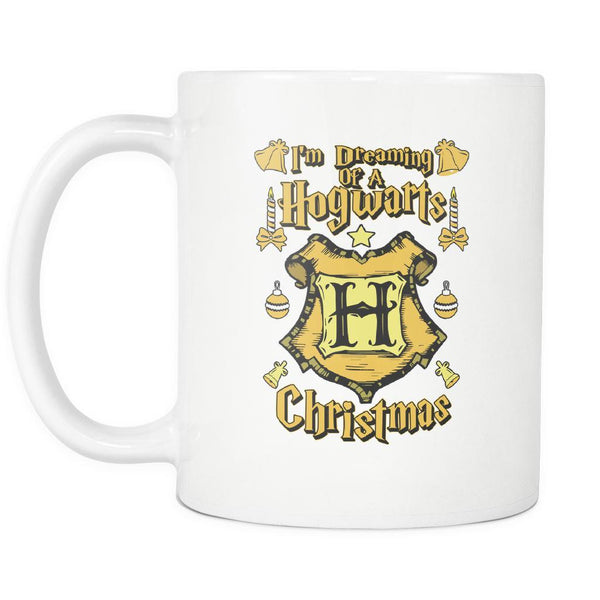 I'm Dreaming Of A Hogwarts Christmas Festive Funny Ugly Christmas Holiday Sweater White 11oz Coffee Mug-Drinkware-Ugly Christmas Sweater White 11oz Coffee Mug-JoyHip.Com