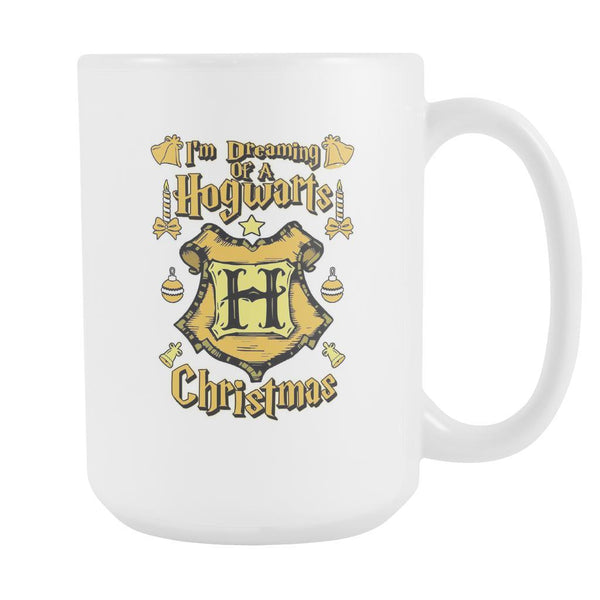 I'm Dreaming Of A Hogwarts Christmas Festive Funny Ugly Christmas Holiday Sweater White 15oz Coffee Mug-Drinkware-Ugly Christmas Sweater White 15oz Coffee Mug-JoyHip.Com
