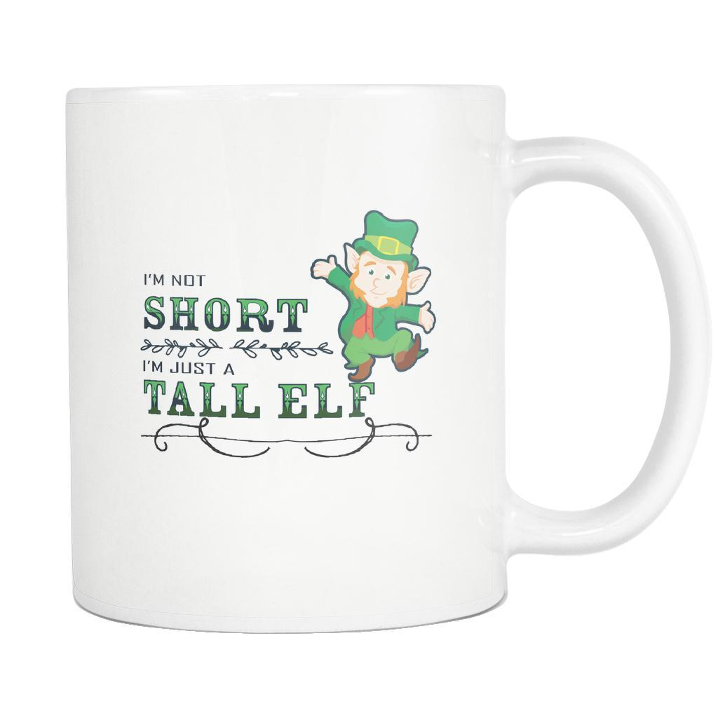 I'm Not Short I'm Just A Tall Elf Ugly Christmas Sweater White 11oz Coffee Mug-Drinkware-Ugly Christmas Sweater White 11oz Coffee Mug-JoyHip.Com