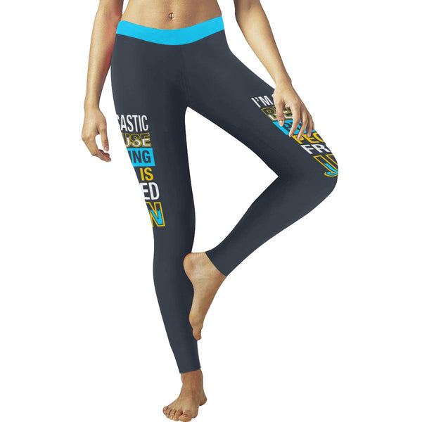 Im Sarcastic Because Punching People Is Frowned Upon Soft Leggings For Women-JoyHip.Com