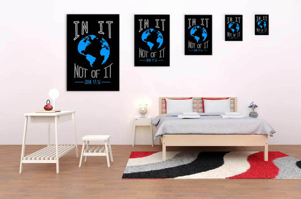 In It Not Of It John 17:16 Christian Canvas Wall Art Room Decor Gift Ideas-Canvas Wall Art 2-JoyHip.Com