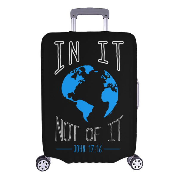 In It Not Of It John 17:16 Christian Travel Luggage Cover Suitcase Protector-L-Black-JoyHip.Com
