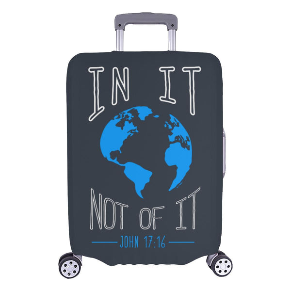 In It Not Of It John 17:16 Christian Travel Luggage Cover Suitcase Protector-L-Grey-JoyHip.Com