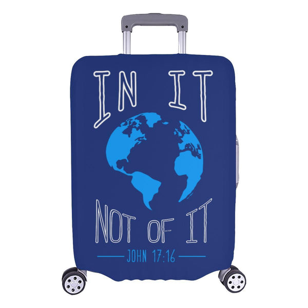 In It Not Of It John 17:16 Christian Travel Luggage Cover Suitcase Protector-L-Navy-JoyHip.Com