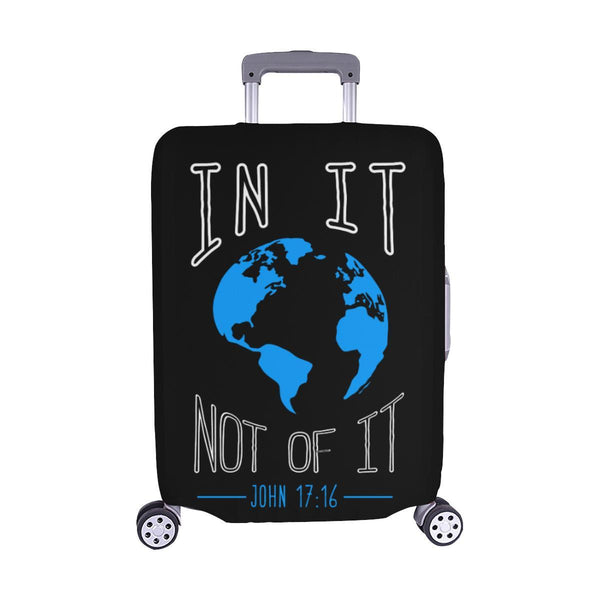 In It Not Of It John 17:16 Christian Travel Luggage Cover Suitcase Protector-M-Black-JoyHip.Com