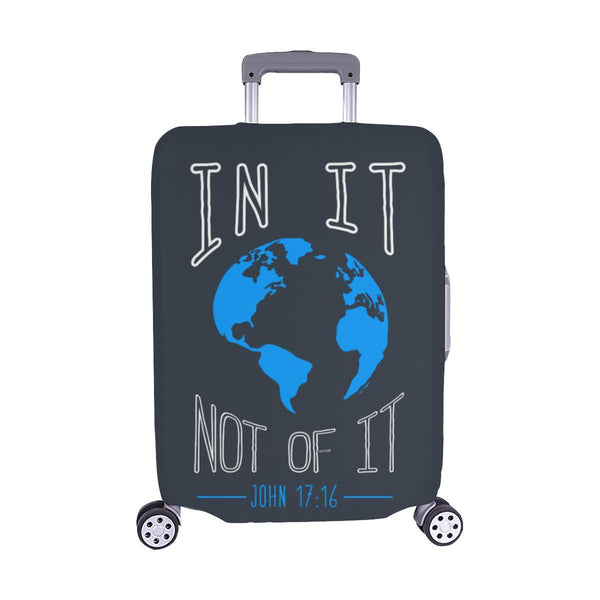 In It Not Of It John 17:16 Christian Travel Luggage Cover Suitcase Protector-M-Grey-JoyHip.Com