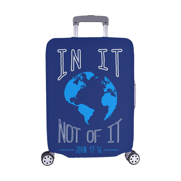 In It Not Of It John 17:16 Christian Travel Luggage Cover Suitcase Protector-M-Navy-JoyHip.Com