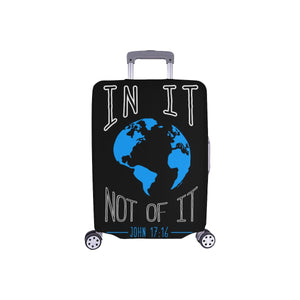 In It Not Of It John 17:16 Christian Travel Luggage Cover Suitcase Protector-S-Black-JoyHip.Com