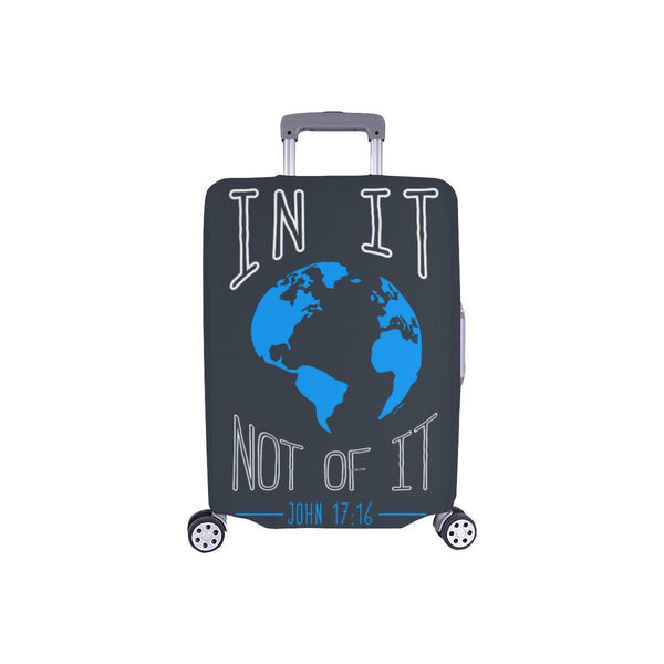 In It Not Of It John 17:16 Christian Travel Luggage Cover Suitcase Protector-S-Grey-JoyHip.Com