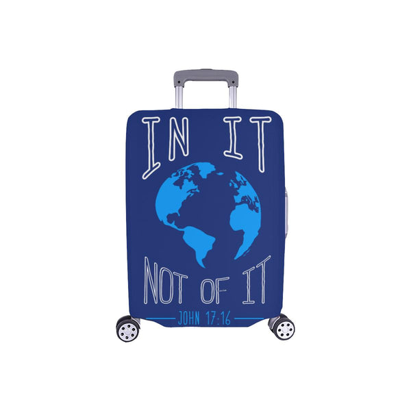 In It Not Of It John 17:16 Christian Travel Luggage Cover Suitcase Protector-S-Navy-JoyHip.Com