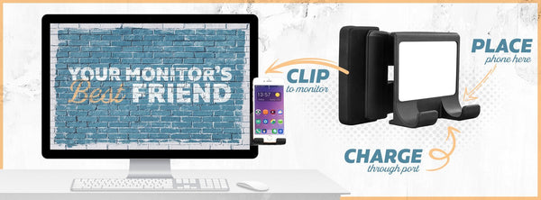 In It Not Of It John17:16 Christian Cell Phone Monitor Holder For Laptop Desktop-Moniclip-Moniclip-JoyHip.Com