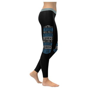 In Two Weeks Youll Feel It See It Hear It Motivational Quotes Womens Leggings-XXS-Black-JoyHip.Com
