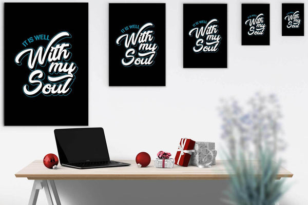 It Is Well With My Soul Christian Canvas Wall Art Room Decor Gift Idea Religious-Canvas Wall Art 2-JoyHip.Com