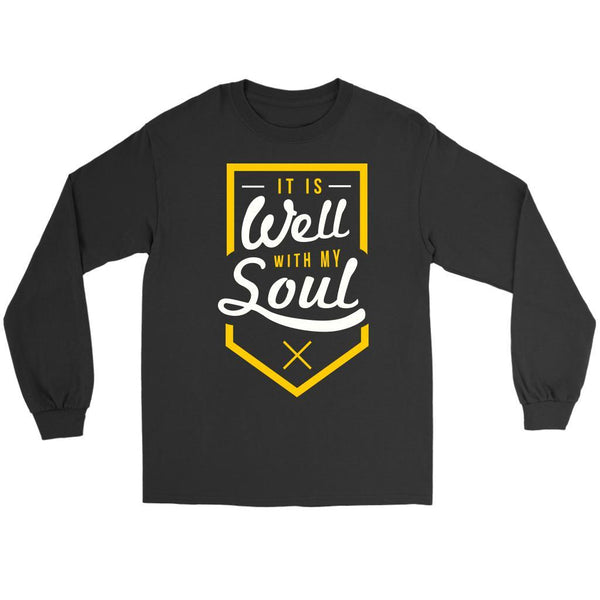 It Is Well With My Soul Christian Friendship Religious Gift Ideas Long Sleeve-T-shirt-Gildan Long Sleeve Tee-Black-JoyHip.Com