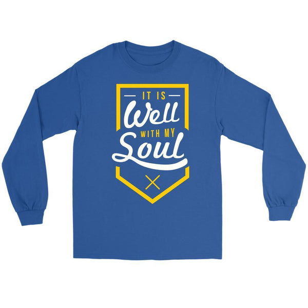 It Is Well With My Soul Christian Friendship Religious Gift Ideas Long Sleeve-T-shirt-Gildan Long Sleeve Tee-Royal-JoyHip.Com