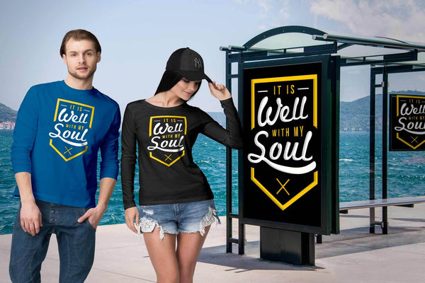 It Is Well With My Soul Christian Friendship Religious Gift Ideas Long Sleeve-T-shirt-JoyHip.Com