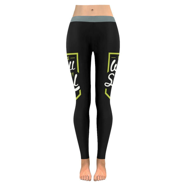 It Is Well With My Soul Christian Jesus Faith Religious UPF40+ Womens Leggings-JoyHip.Com