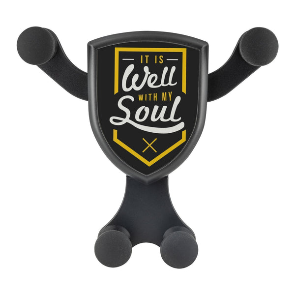 It Is Well With My Soul Qi Wireless Car Charger Mount Christian Gift Religious-Gravitis Car Charger-Gravitis - Wireless Car Charger-JoyHip.Com