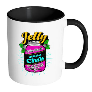 Jelly Of The Month Official Club The Gift That Keeps On Giving The Whole Year Festive Funny Ugly Christmas Holiday Sweater 11oz Accent Coffee Mug (7 Colors)-Drinkware-Accent Mug - Black-JoyHip.Com