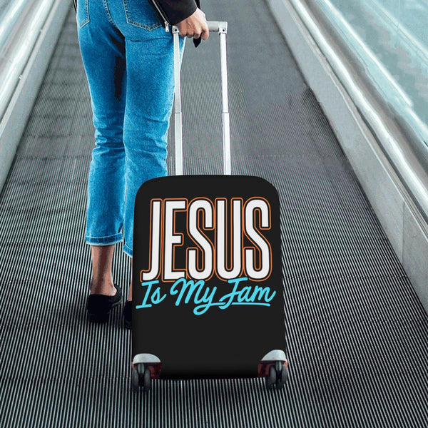Jesus Is My Jam Christian Travel Luggage Cover Suitcase Protector Fit 18-28 Inch-JoyHip.Com