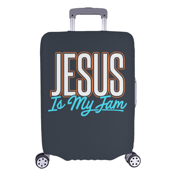 Jesus Is My Jam Christian Travel Luggage Cover Suitcase Protector Fit 18-28 Inch-L-Grey-JoyHip.Com