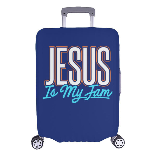 Jesus Is My Jam Christian Travel Luggage Cover Suitcase Protector Fit 18-28 Inch-L-Navy-JoyHip.Com