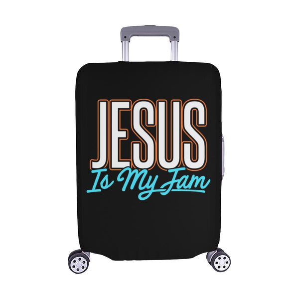 Jesus Is My Jam Christian Travel Luggage Cover Suitcase Protector Fit 18-28 Inch-M-Black-JoyHip.Com