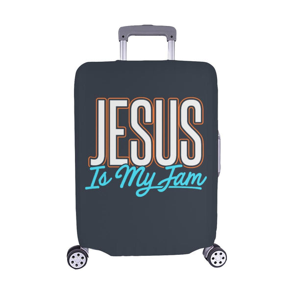Jesus Is My Jam Christian Travel Luggage Cover Suitcase Protector Fit 18-28 Inch-M-Grey-JoyHip.Com