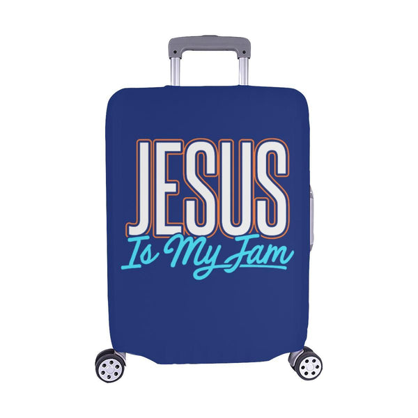 Jesus Is My Jam Christian Travel Luggage Cover Suitcase Protector Fit 18-28 Inch-M-Navy-JoyHip.Com