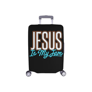 Jesus Is My Jam Christian Travel Luggage Cover Suitcase Protector Fit 18-28 Inch-S-Black-JoyHip.Com