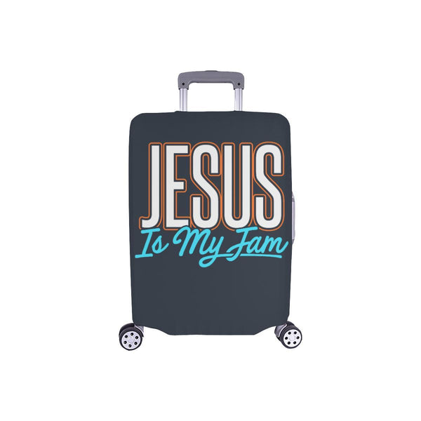 Jesus Is My Jam Christian Travel Luggage Cover Suitcase Protector Fit 18-28 Inch-S-Grey-JoyHip.Com