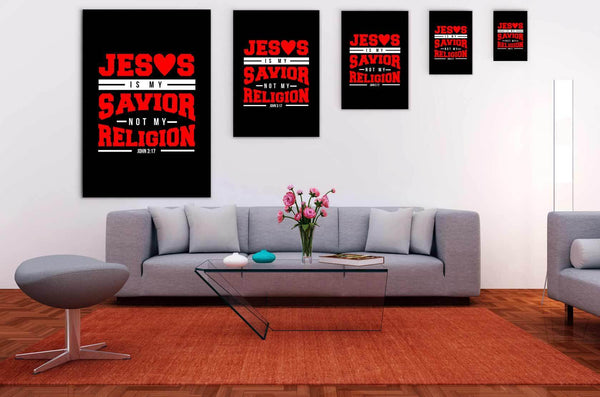 Jesus Is My Savior Not My Religion John3:17 Christian Canvas Wall Art Room Decor-Canvas Wall Art 2-JoyHip.Com
