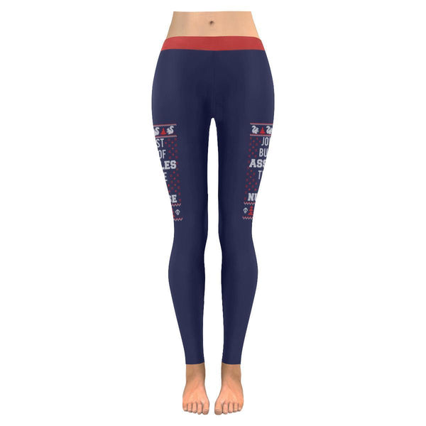Jolliest Bunch Of Assholes This Side Of The Nuthouse Gift Ugly Christmas Legging-JoyHip.Com