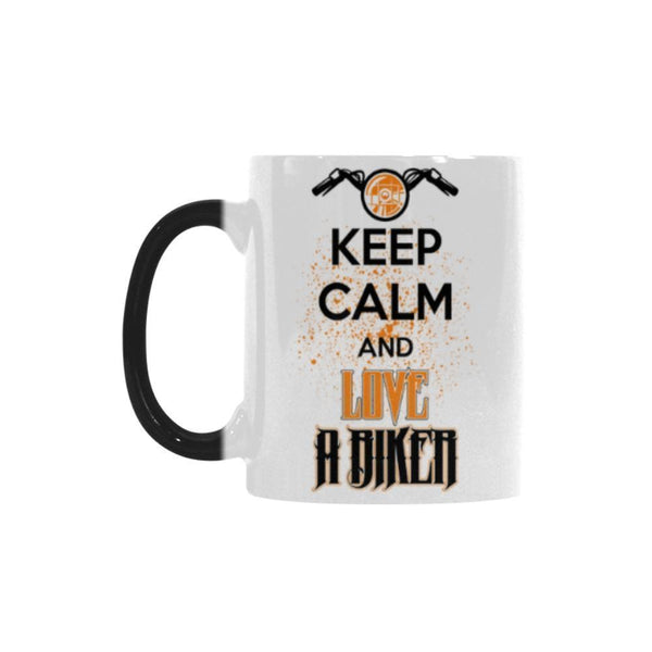 Keep Calm And Love A Biker Motorcycle Color Changing/Morphing 11oz Coffee Mug-Morphing Mug-One Size-JoyHip.Com