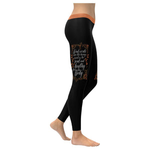 Kind Word Are Honey Sweet For Soul Healthy For Body Soft Leggings For Women Cute-XXS-Black-JoyHip.Com