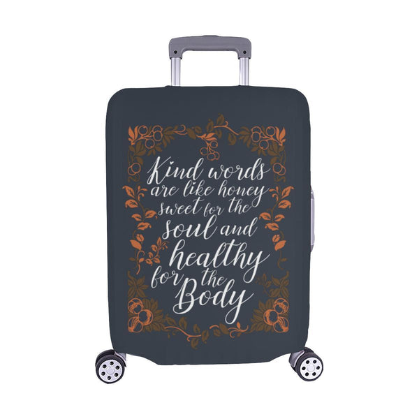 Kind Words Are Sweet For Soul & Healthy For Body Christian Travel Luggage Cover-M-Grey-JoyHip.Com