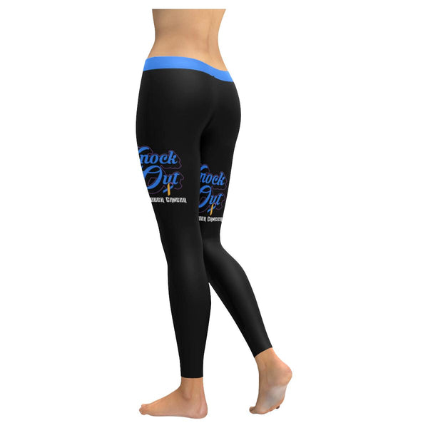Knock Out Bladder Cancer Blue Yellow Purple Ribbon Pretty Soft Legging For Women-JoyHip.Com
