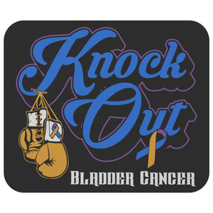 Knock Out Bladder Cancer Comfort Gifts For Chemo Patients Mouse Pad-Mousepads-Black-JoyHip.Com