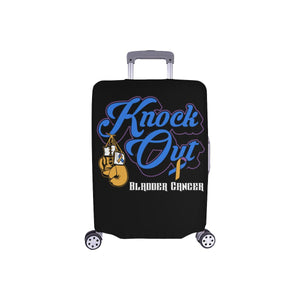 "Knock Out Bladder Cancer Travel Luggage Cover Suitcase Protector 18""-28"" Baggage-S-Black-JoyHip.Com"