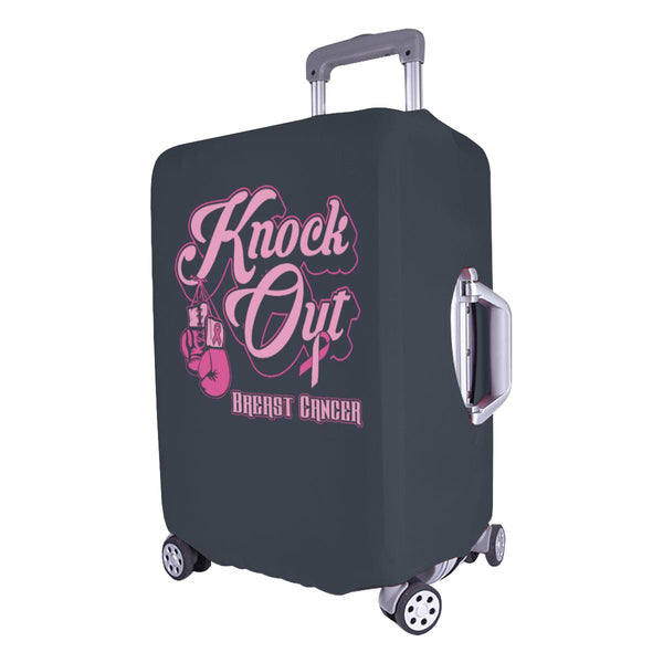 "Knock Out Breast Cancer Travel Luggage Cover Suitcase Protector 18""-28"" Baggage-JoyHip.Com"