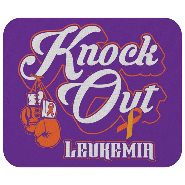 Knock Out Leukemia Cancer Orange Ribbon Comfort Gift For Chemo Patient Mouse Pad-Mousepads-Purple-JoyHip.Com