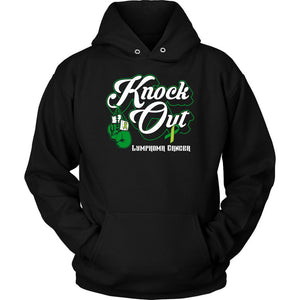 Knock Out Lymphoma Awareness Lime Green Ribbon Awesome Cool Gift Ideas Hoodie-T-shirt-Unisex Hoodie-Black-JoyHip.Com