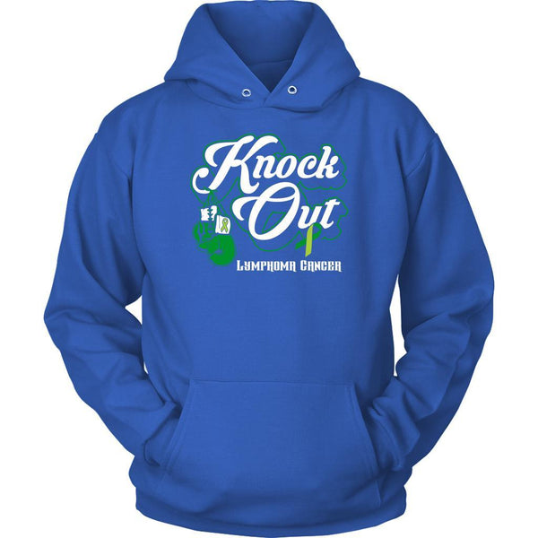 Knock Out Lymphoma Awareness Lime Green Ribbon Awesome Cool Gift Ideas Hoodie-T-shirt-Unisex Hoodie-Royal Blue-JoyHip.Com