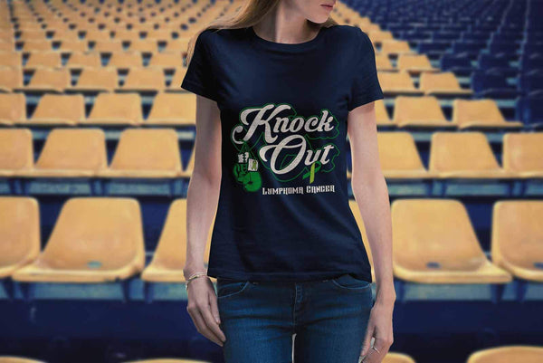Knock Out Lymphoma Awareness Lime Green Ribbon Awesome Cool Gift Ideas TShirt-T-shirt-JoyHip.Com