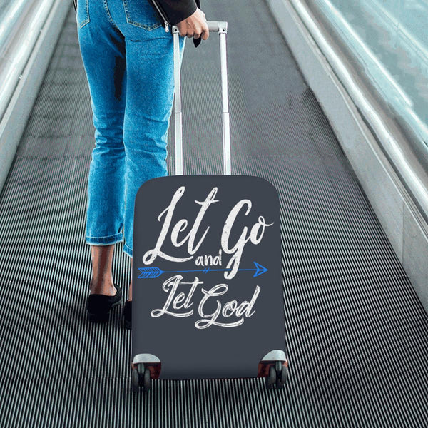 Let Go & Let God Christian Travel Luggage Cover Suitcase Protector 18-28 Inch-JoyHip.Com
