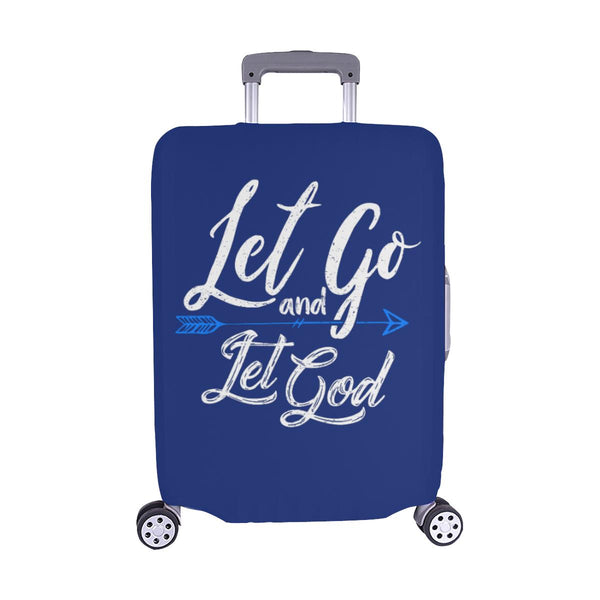 Let Go & Let God Christian Travel Luggage Cover Suitcase Protector 18-28 Inch-M-Navy-JoyHip.Com