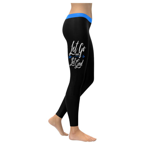 Let Go & Let God Soft Leggings For Women Cute Funny Christian Gift Religious-XXS-Black-JoyHip.Com