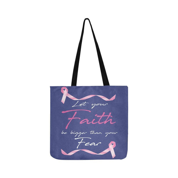 Let Your Faith Be Bigger Than Your Fear Breast Cancer Reusable Produce Bags-One Size-Orchid-JoyHip.Com