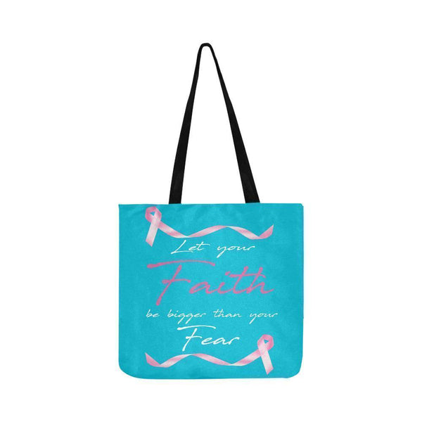 Let Your Faith Be Bigger Than Your Fear Breast Cancer Reusable Produce Bags-One Size-Turquoise-JoyHip.Com
